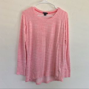 Champion Heathered Pink Long Sleeve Workout Top M